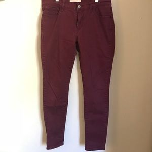Levi Strauss Red Skinny Jeans